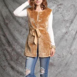 YA Los Angeles faux fur vest